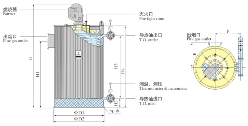 Oil-fired Vertical Thermal Fluid Heater